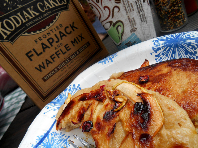 Kodiak cakes, with apple, pear, cranberry