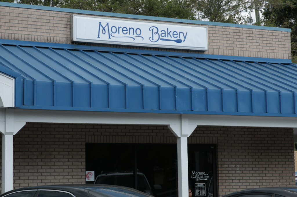 moreno bakery store front view