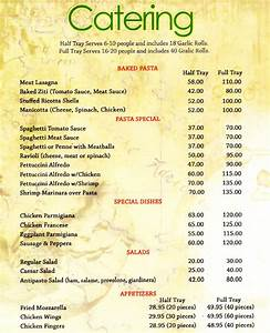 moreno catering menu