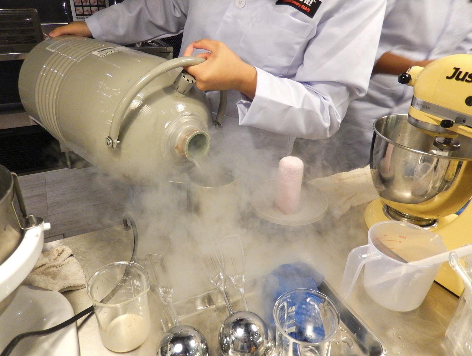making an ice cream