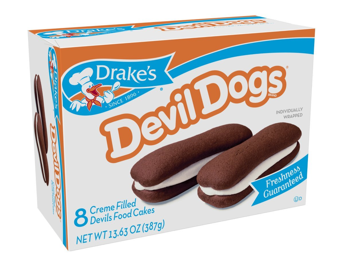 Drake's Fudge Dipped Devil Dogs or Créme-Filled Devil Dogs Cakes