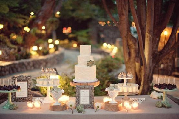 Rustic and Romantic cake theme