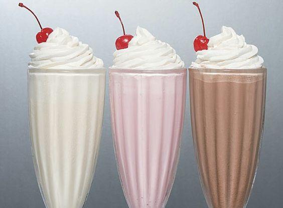 milkshakes with cherry on the top