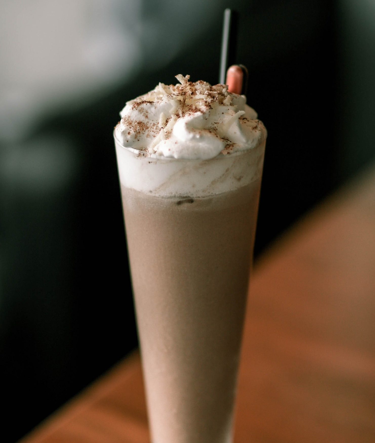 milkshake serving in a glass