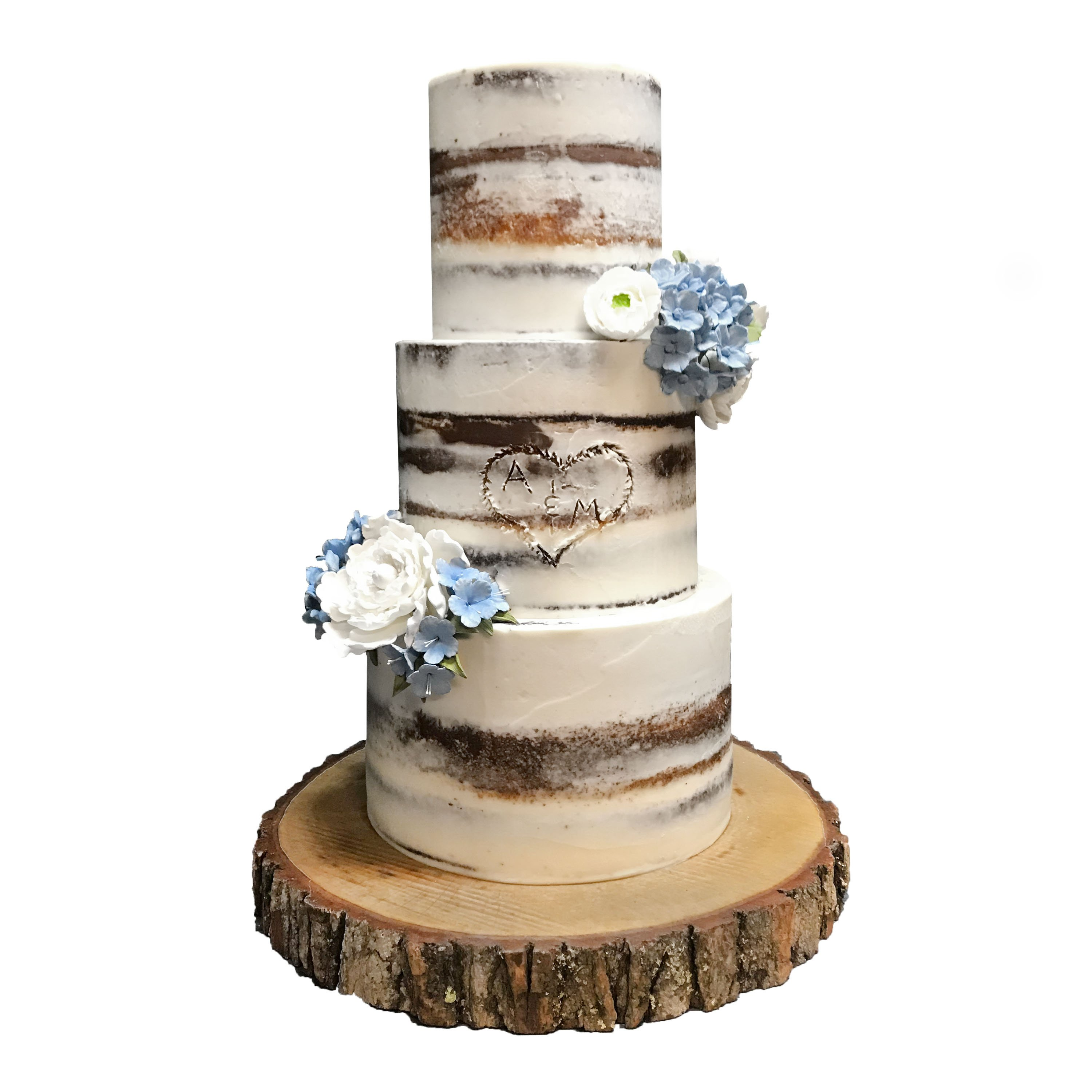 Naked Forest Wedding Cake